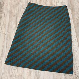 J. Crew Zig Zag A Line Skirt 8